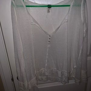 Size xs free People sheer lounge top